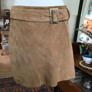 Genuine Suede Leather Skirt